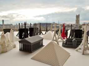 巴黎著名的建筑 3D模型