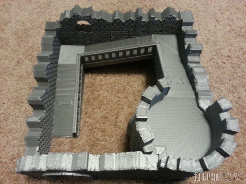 野战游戏的城堡废墟 3D模型  图1