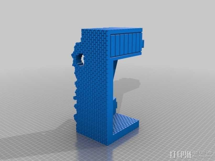 野战游戏的城堡废墟 3D模型  图3