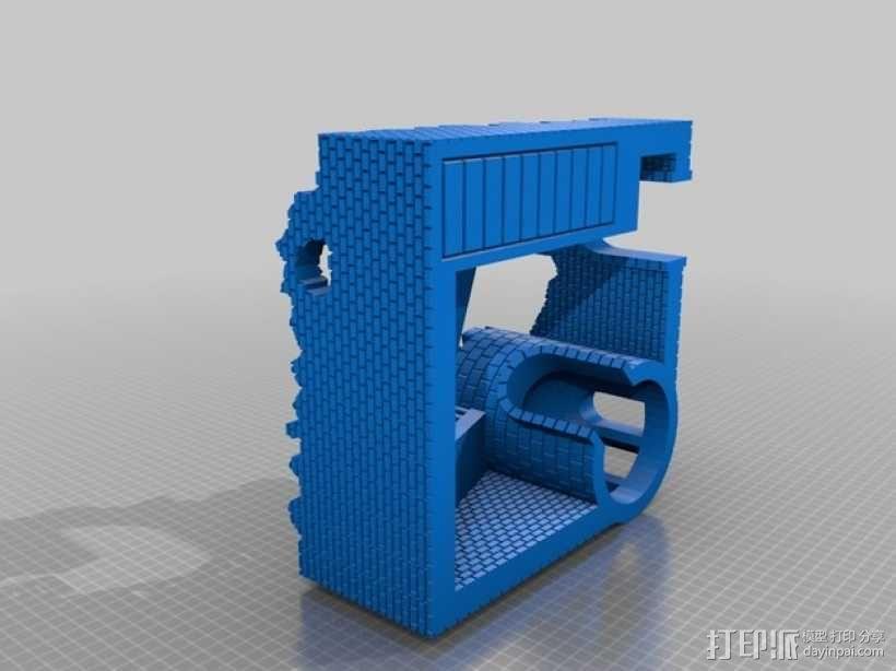 野战游戏的城堡废墟 3D模型  图4