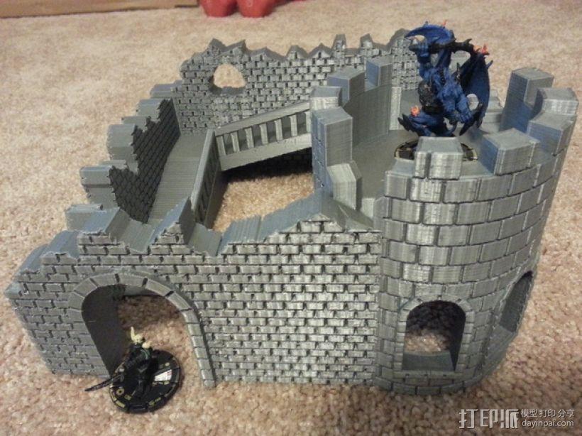 野战游戏的城堡废墟 3D模型  图5