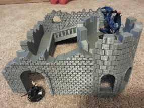 野战游戏的城堡废墟 3D模型