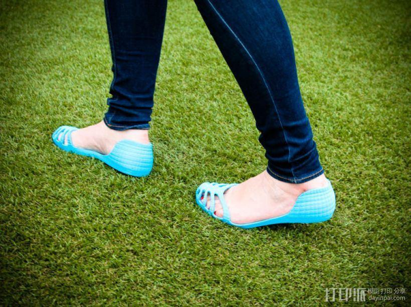 recreus凉鞋 3D模型  图2
