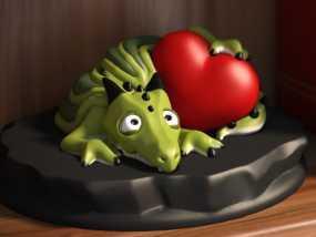 怪兽宠物情人节 3D模型
