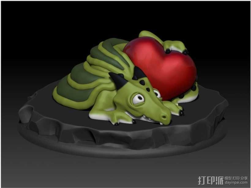 怪兽宠物情人节 3D模型  图3