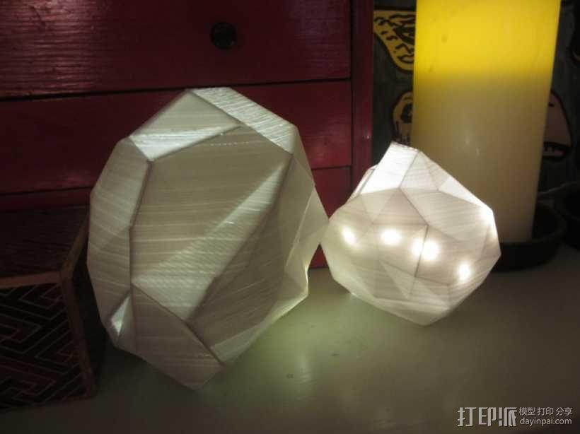 几何形灯罩模型 3D模型  图2