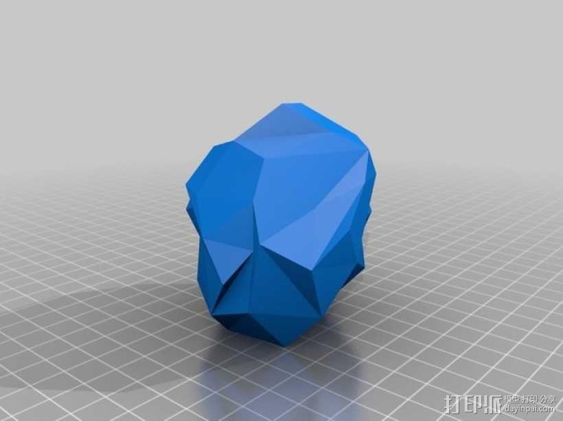 几何形灯罩模型 3D模型  图1
