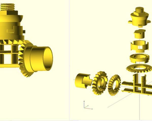 铅笔卷笔刀模型 3D模型  图4