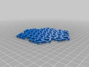雪花形锁子甲模型 3D模型