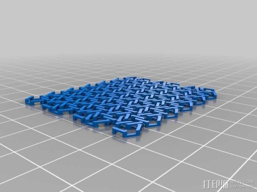雪花形锁子甲模型 3D模型  图3