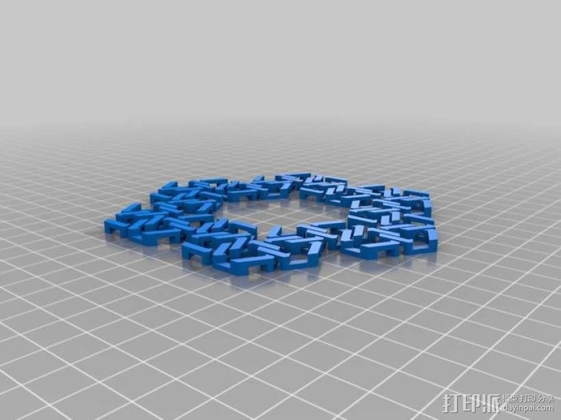 雪花形锁子甲模型 3D模型  图4