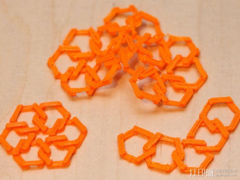 雪花形锁子甲模型 3D模型  图2