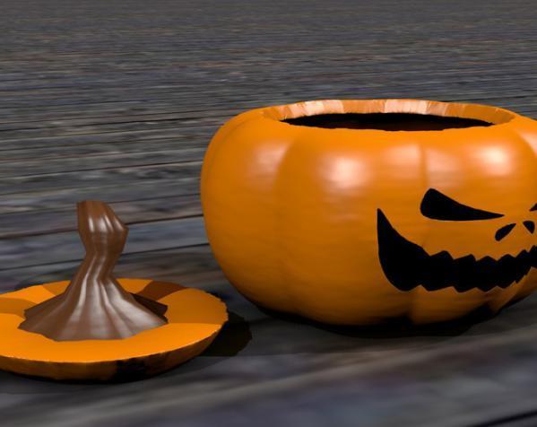 迷你南瓜灯模型 3D模型  图2