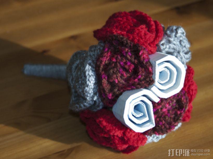 数字化玫瑰模型 3D模型  图1
