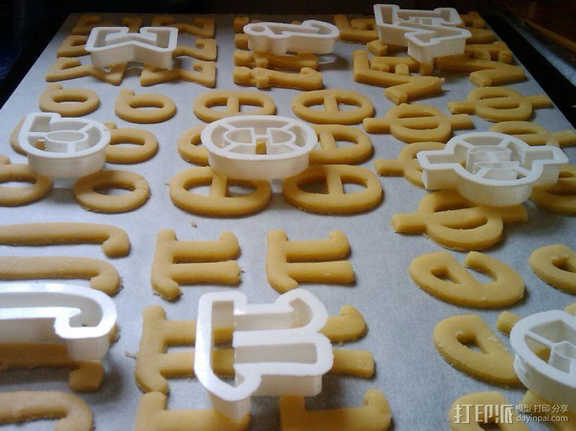 数字饼干模型切割刀套件 3D模型  图1