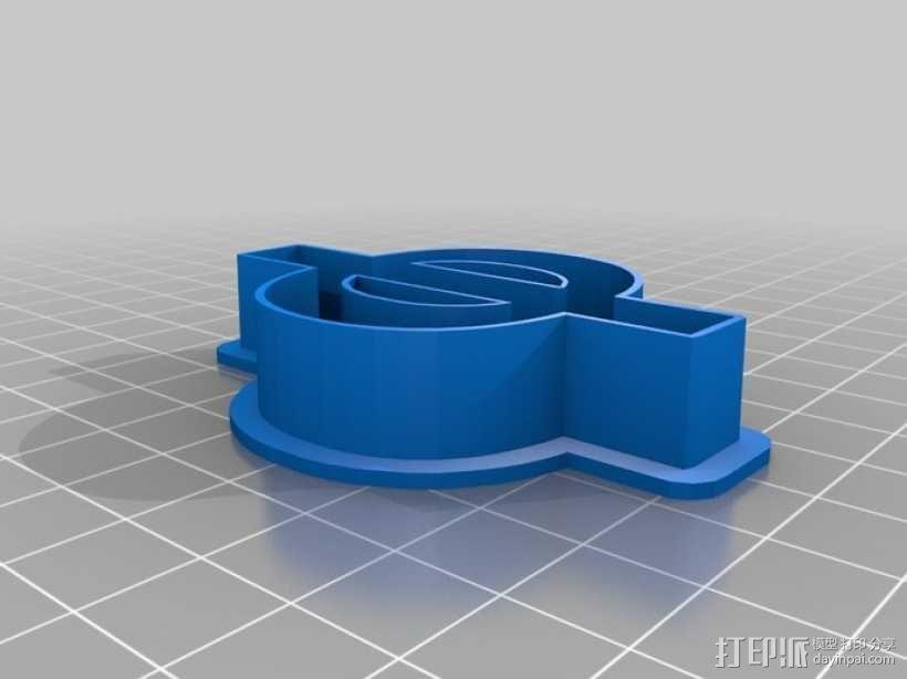 数字饼干模型切割刀套件 3D模型  图11