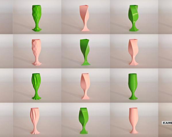 香槟酒杯#1 3D模型  图2