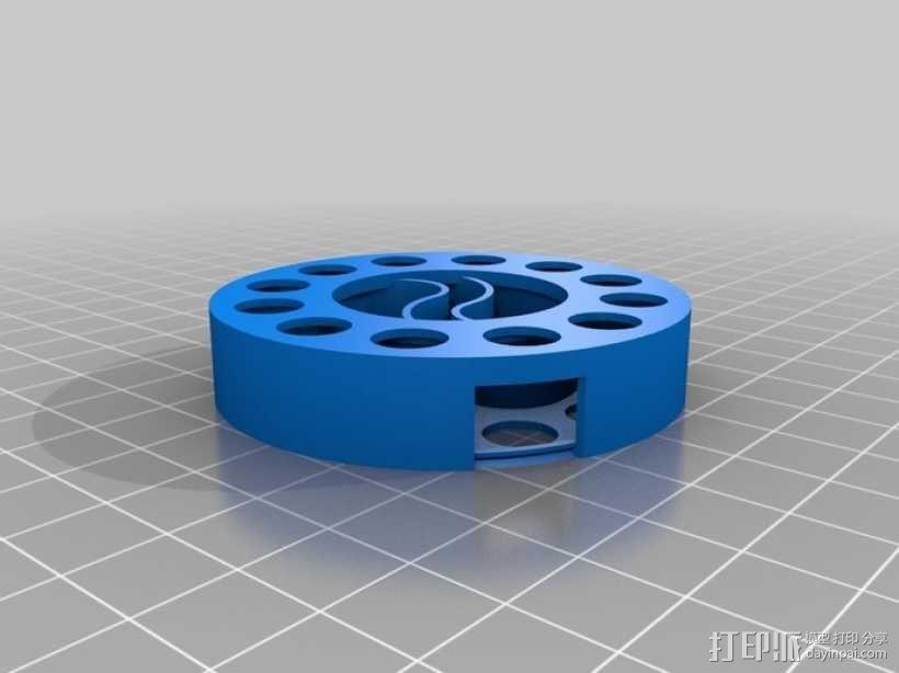 阴阳电缆线轴模型 3D模型  图1