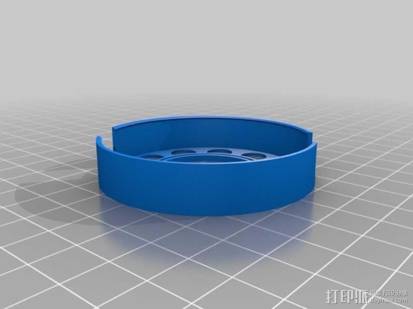 阴阳电缆线轴模型 3D模型  图3