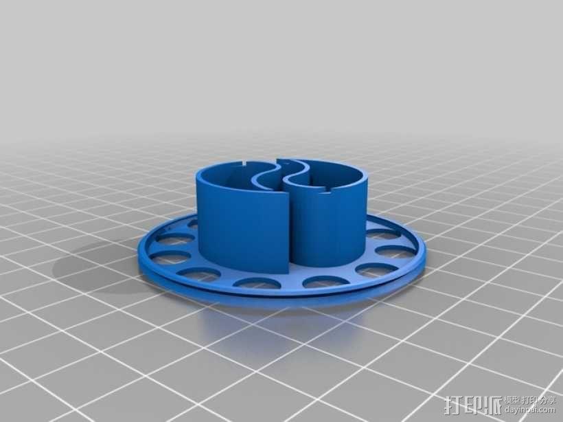 阴阳电缆线轴模型 3D模型  图6