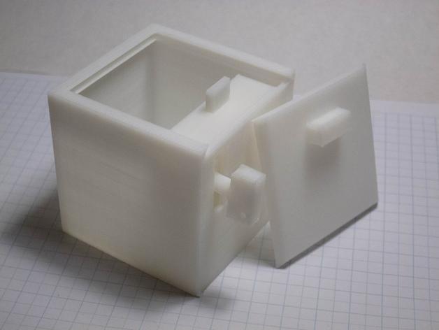 参数化带锁小箱子模型 3D模型  图2