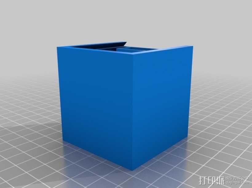 参数化带锁小箱子模型 3D模型  图5