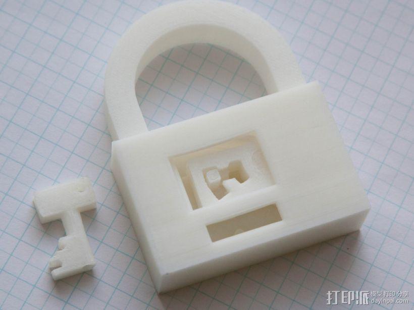 3D打印挂锁模型 3D模型  图7