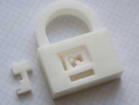 3D打印挂锁模型 3D模型