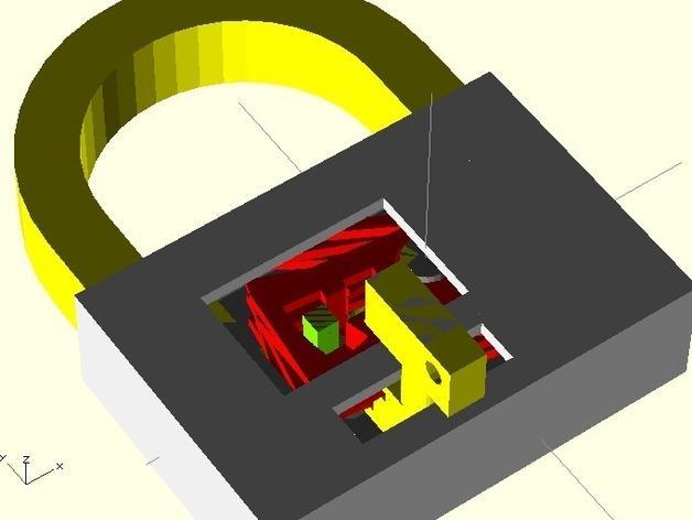 3D打印挂锁模型 3D模型  图10