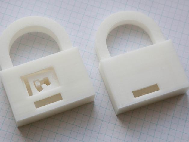 3D打印挂锁模型 3D模型  图9