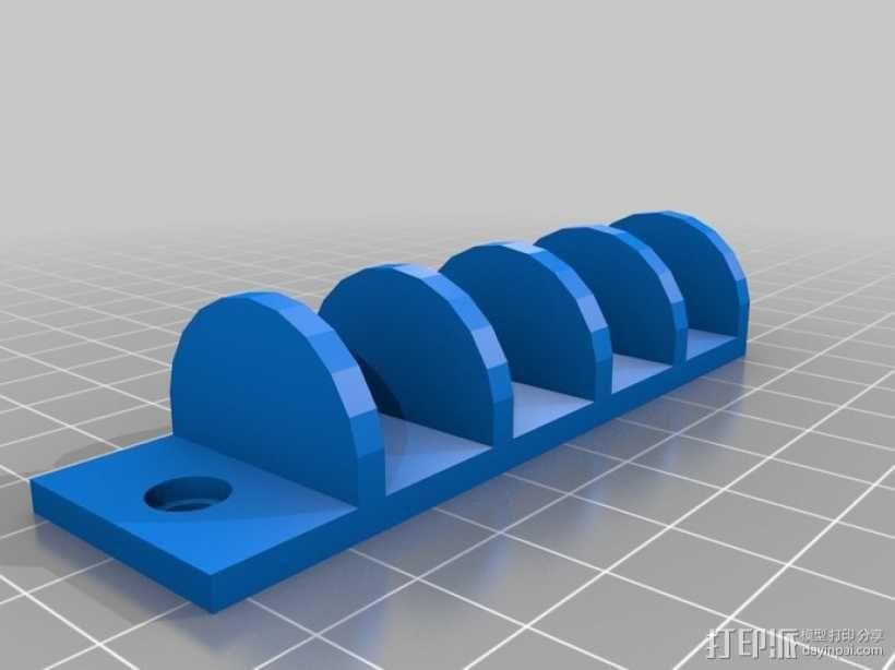 迷你DVD架模型 3D模型  图1