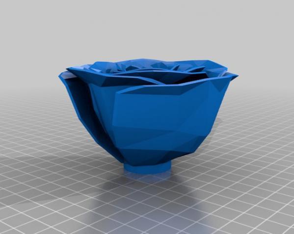 迷你玫瑰花模型 3D模型  图1