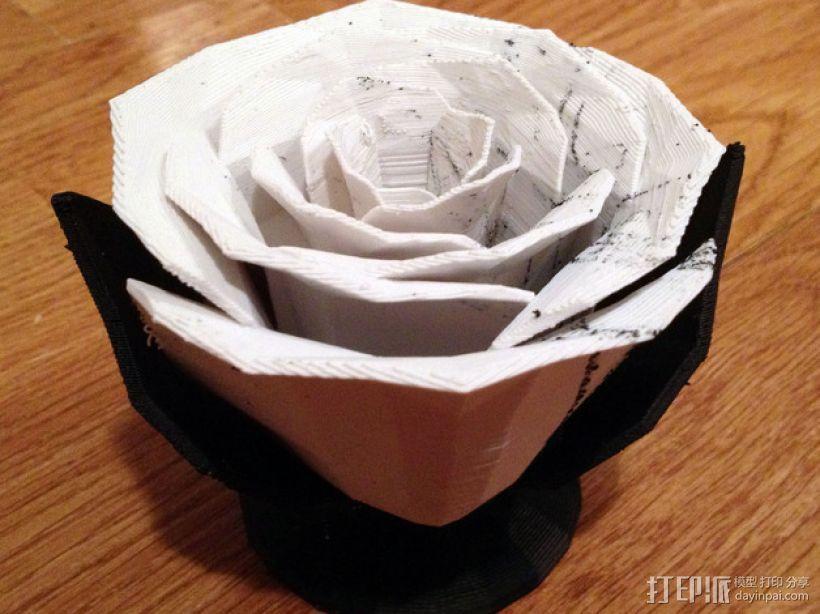 迷你玫瑰花模型 3D模型  图3