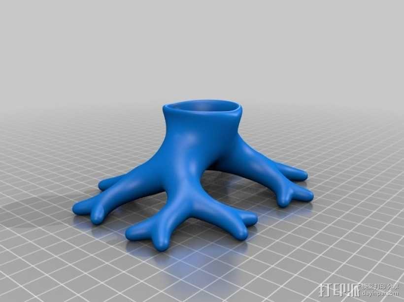树根花瓶/花盆模型 3D模型  图2