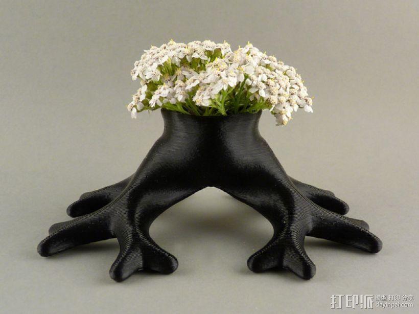 树根花瓶/花盆模型 3D模型  图6