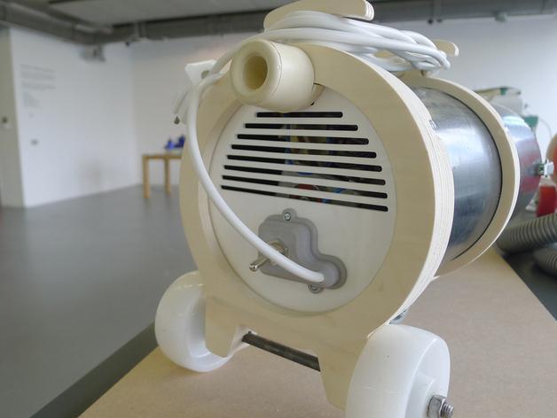 吸尘器后罩模型 3D模型  图2