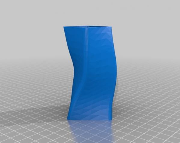 矩形花瓶模型 3D模型  图1