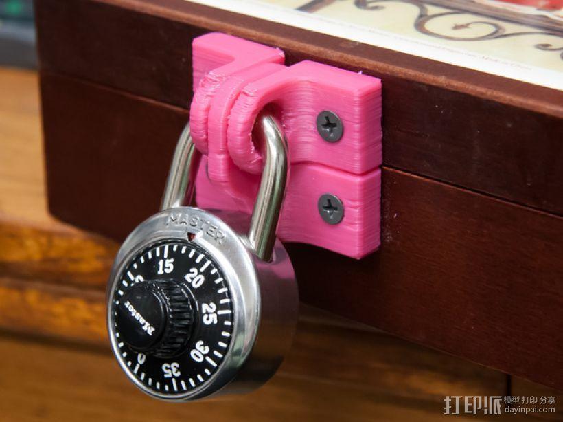 迷你锁装置套件 3D模型  图1