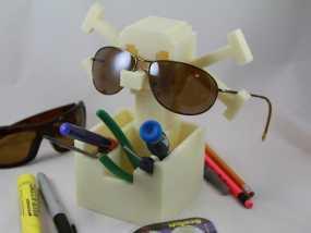 骷髅头形多功能盒模型 3D模型