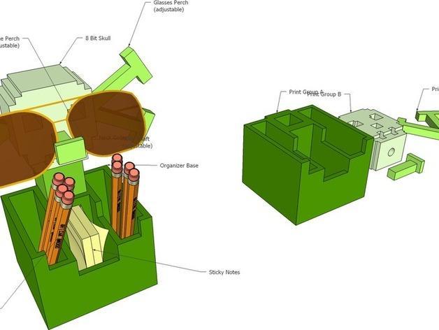 骷髅头形多功能盒模型 3D模型  图6