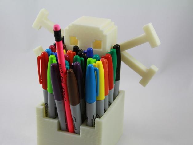 骷髅头形多功能盒模型 3D模型  图5