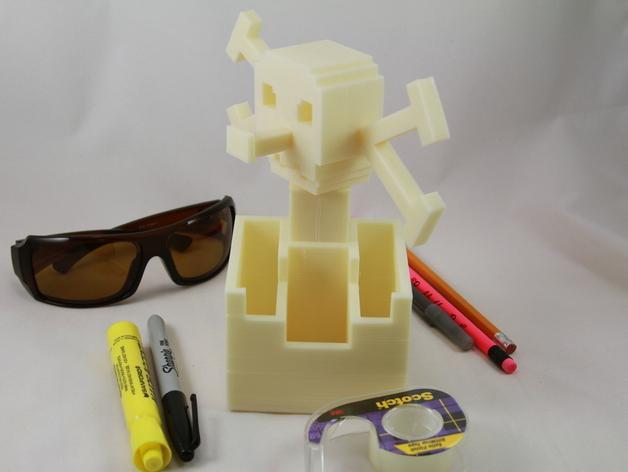骷髅头形多功能盒模型 3D模型  图2