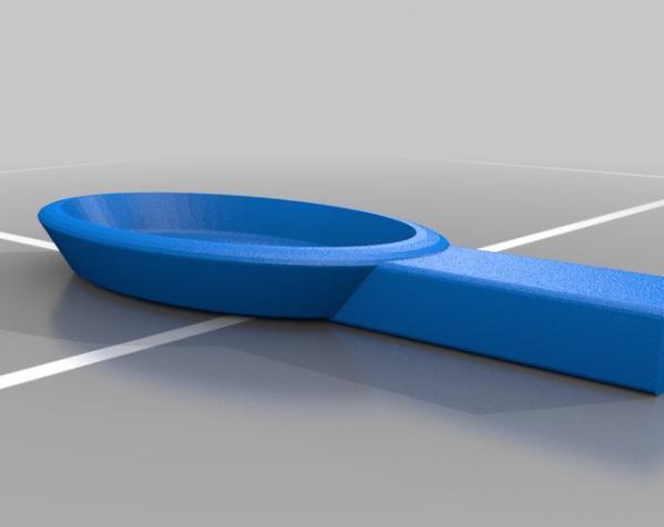 直角形汤匙模型 3D模型  图2