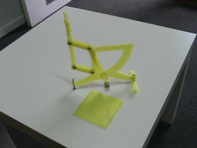 古典风格的信件磅秤模型 3D模型  图1