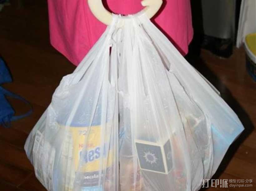 塑料袋手提把手模型 3D模型  图1