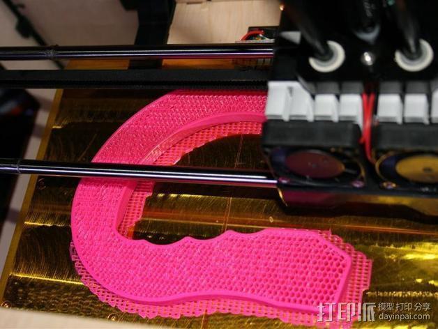 塑料袋手提把手模型 3D模型  图2