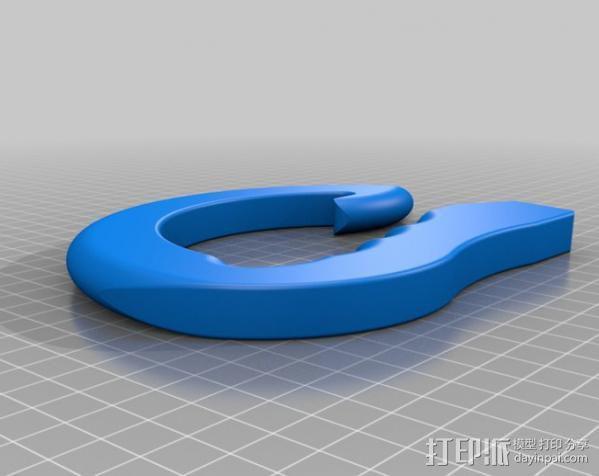 塑料袋手提把手模型 3D模型  图3