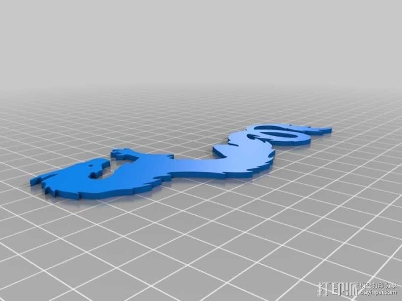 龙形书签模型 3D模型  图1