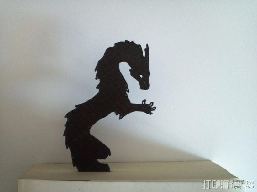 龙形书签模型 3D模型  图3