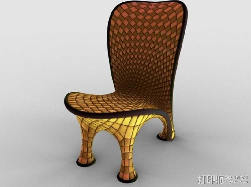 泡泡透明椅模型 3D模型  图3